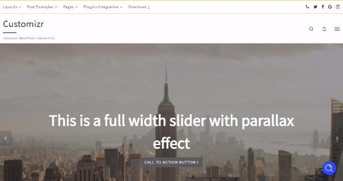 customizer responsive wordpress theme