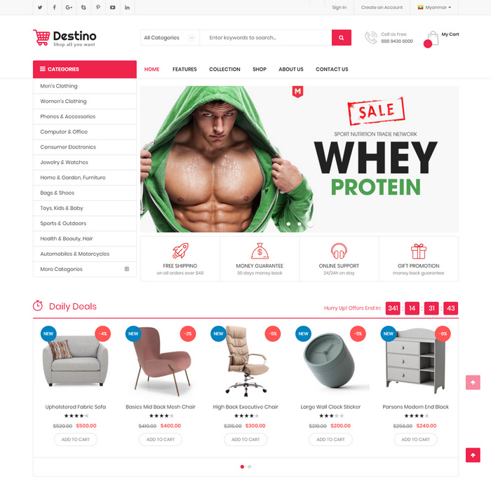 Create website with Magento template