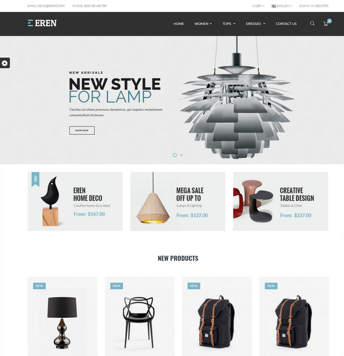 Responsive fashion theme for online shops