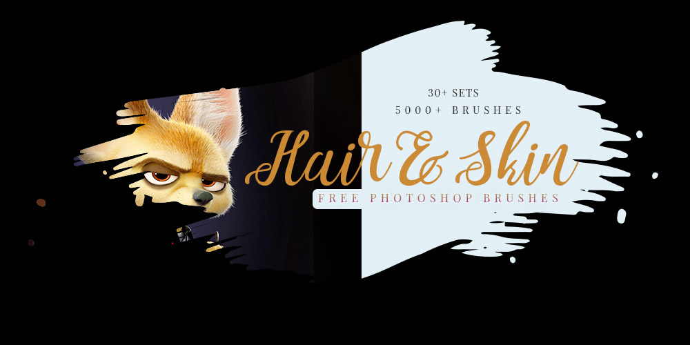 free hair and skin brushes for photoshop