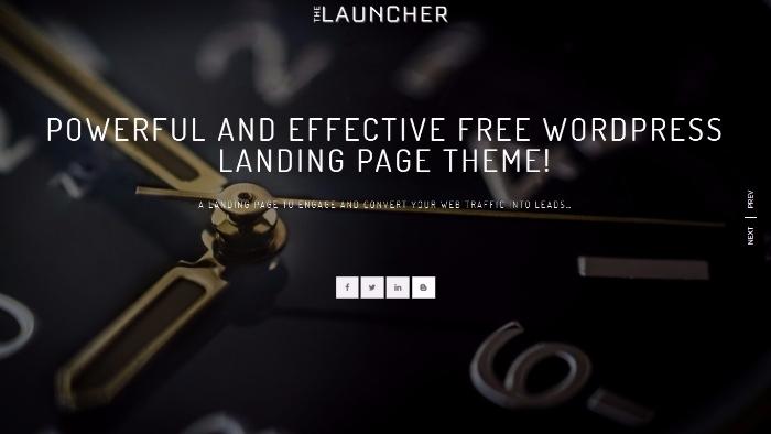 launcher - responsive landing wordpress theme