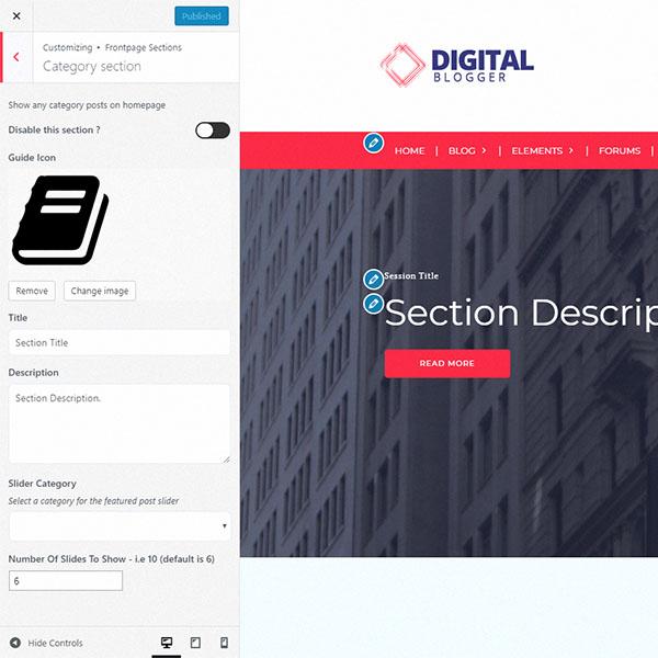 live-customizer-dblogger-theme