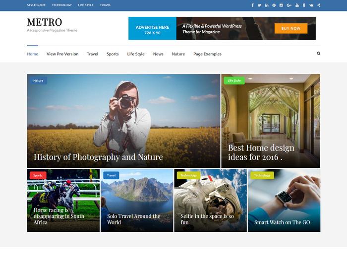 Metro WordPress Theme for Photography