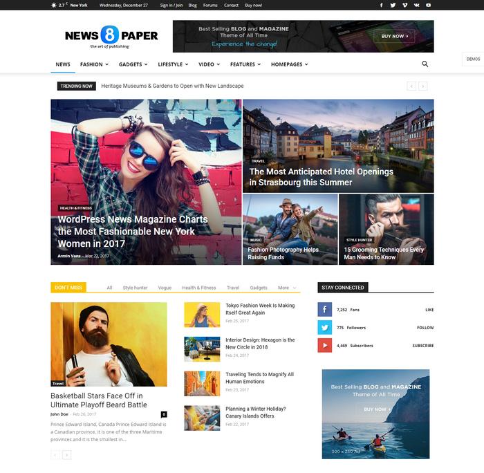 WordPress theme to write articles and blog