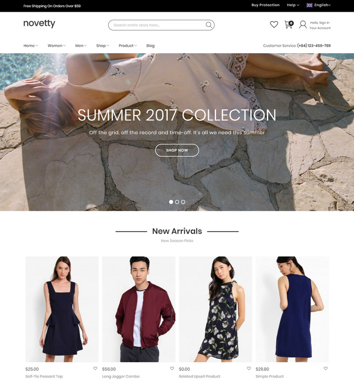 create your website with Magento theme