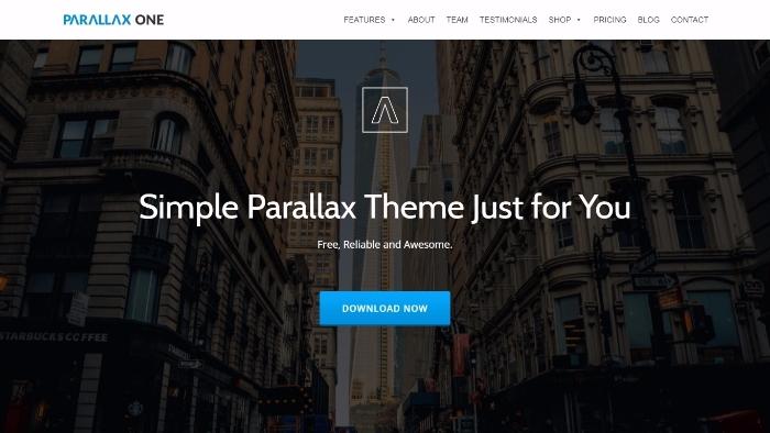 parallax one - free one-page WordPress theme