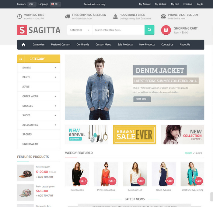 theme for creating ecommerce websites
