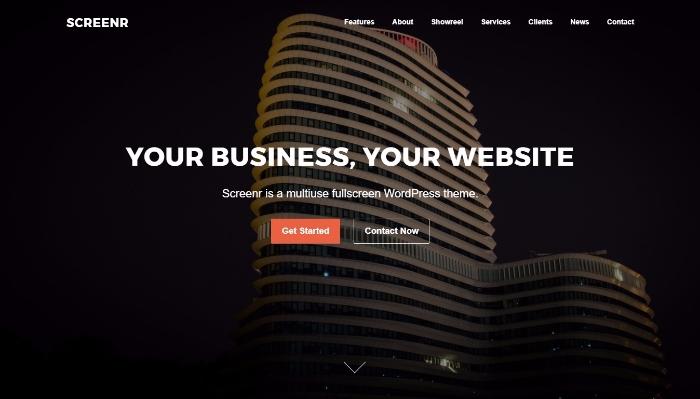 screenr - wordpress landing theme