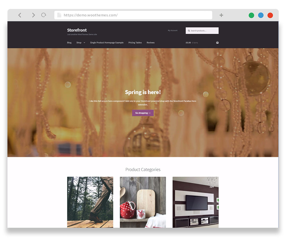 free WordPress WooCommerce theme