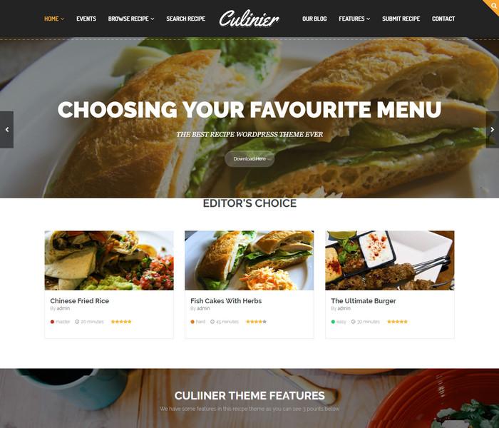 Culiner Food WordPress Theme