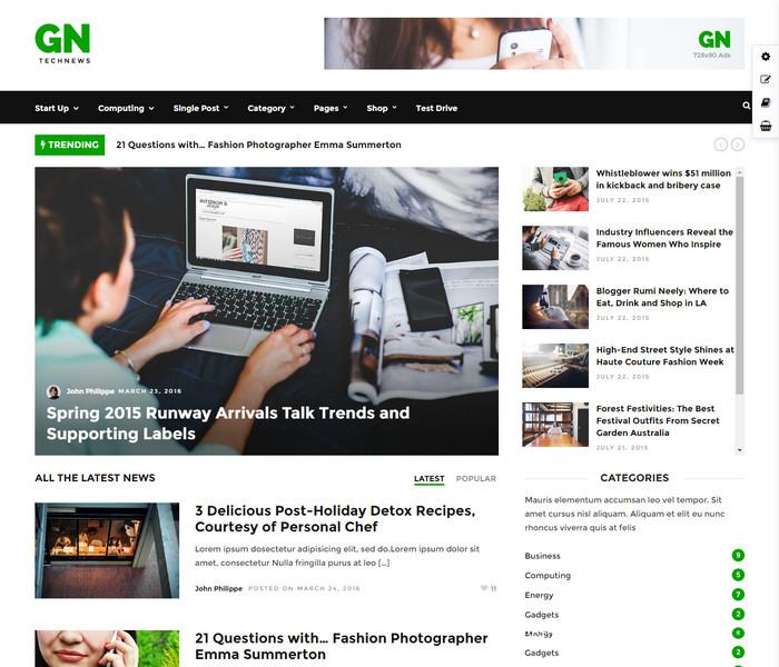 Grand Tech News Theme