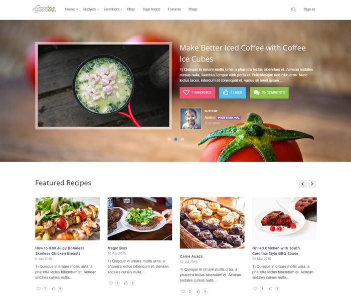 Gustos Food WordPress Theme