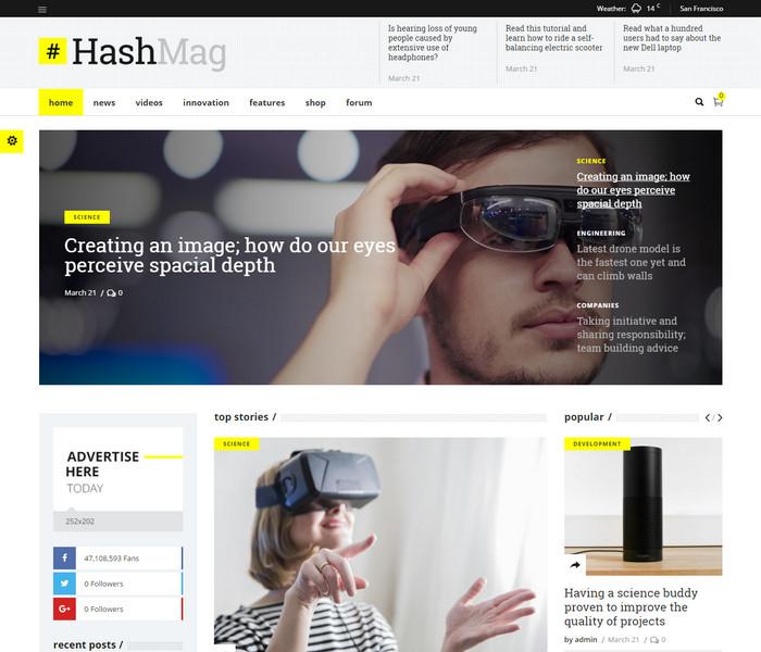 Hashmag Technology WordPress Theme