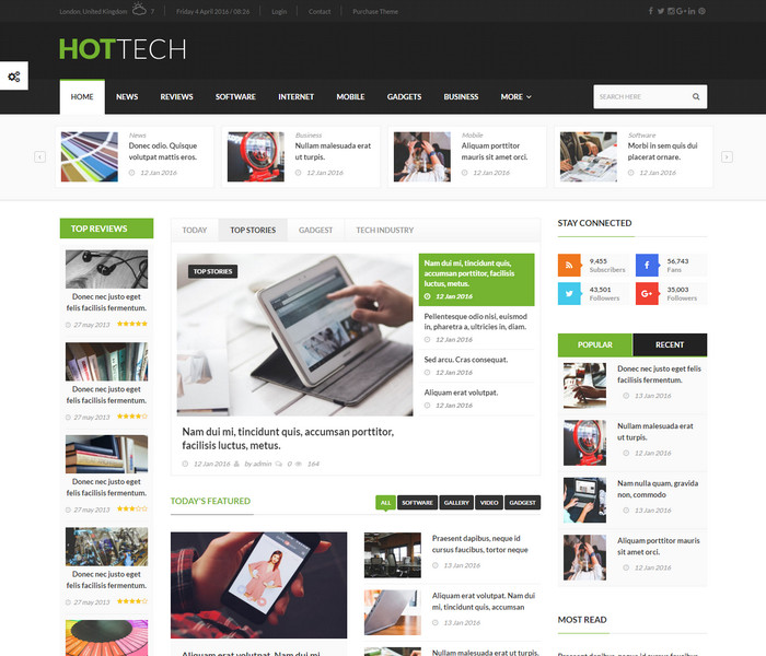 HotTech Technology WordPress Theme