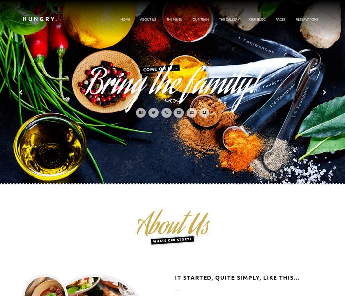 Hungry Food WordPress Theme