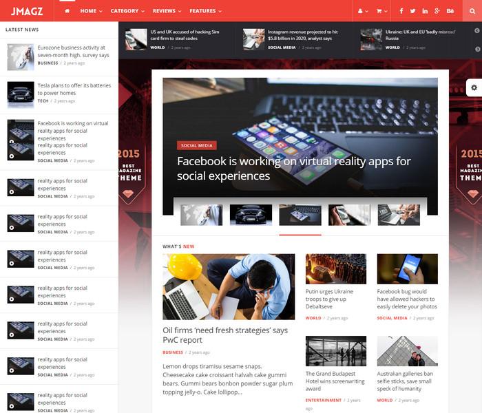 Jmagz Tech News WordPress Theme
