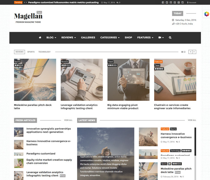 Magellan Technology WordPress Theme