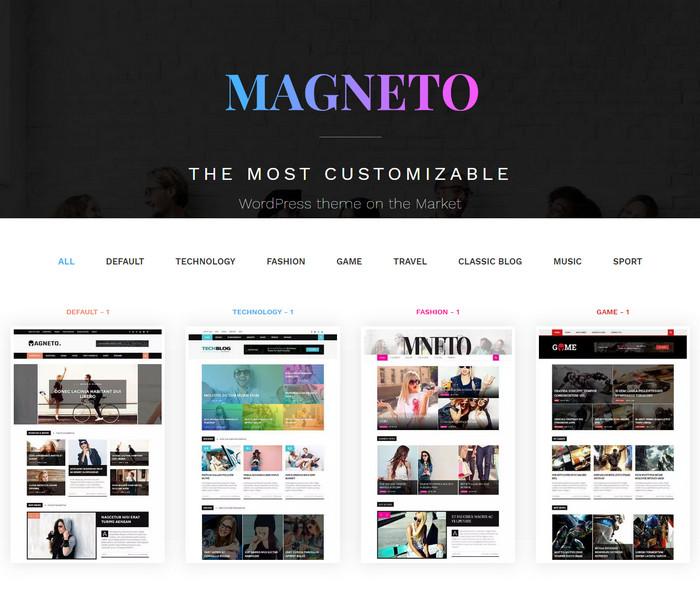 Magneto - best magazine WordPress Theme