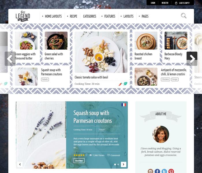 Neptune Food Blog WordPress Theme
