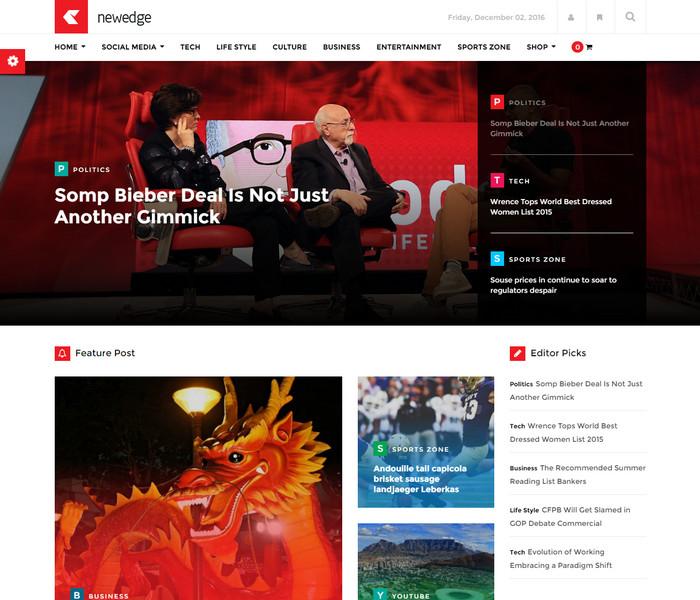 NewEdge Responsive WordPress Magazine Theme