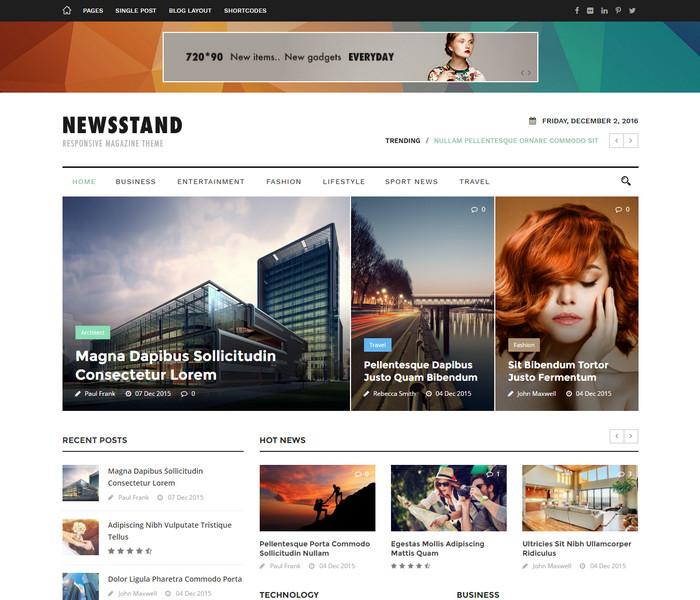 NewStand - premium Magazine WordPress Theme