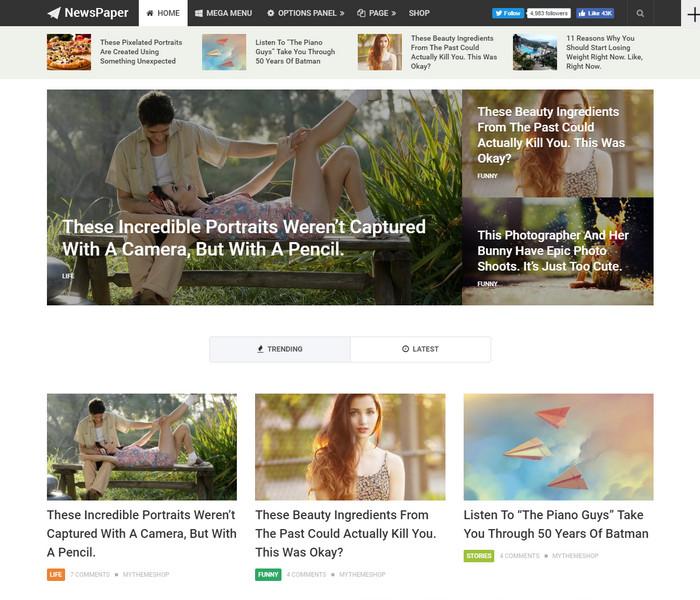 NewsPaper WordPress Theme for online magazines