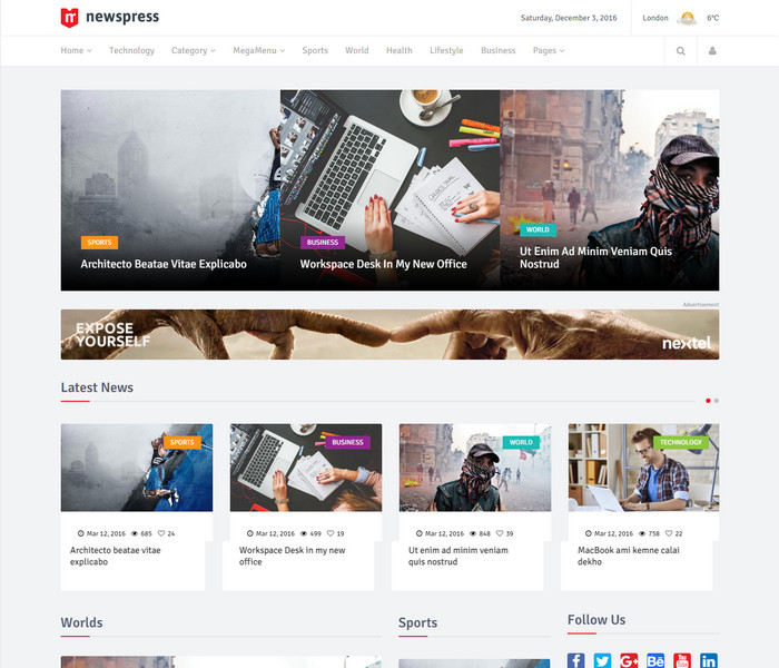 NewsPress Technology WordPress Theme