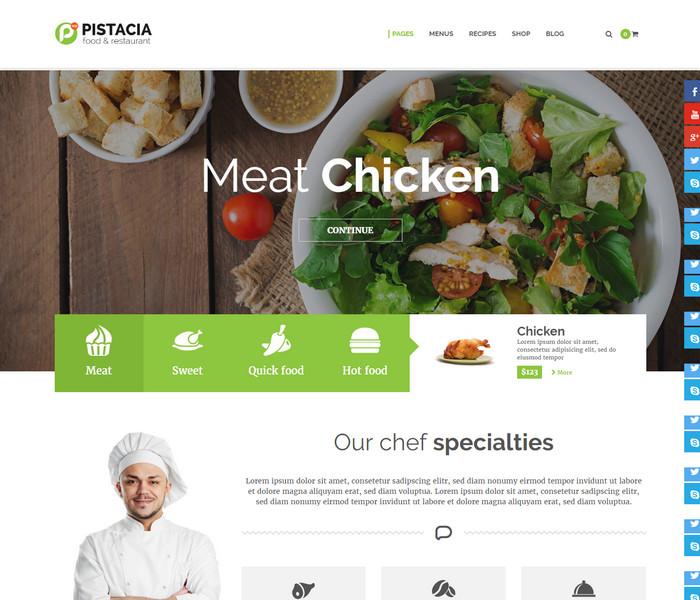 Pistacia Food Blog WordPress Theme