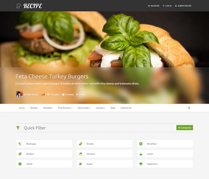 Recipe Food WordPress Theme