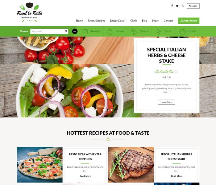 RecipePress WordPress Food Blog Theme