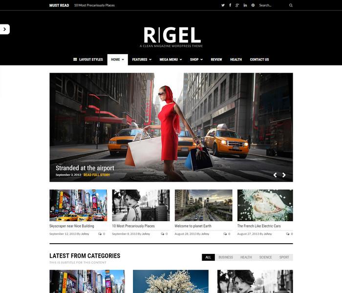 Rigel Responsive WordPress Theme