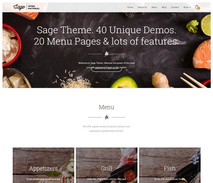 Sage Restaurant WordPress Theme