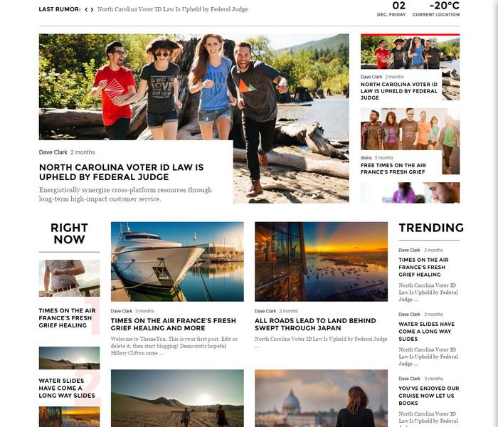 Tana News WordPress Theme for fashion news website