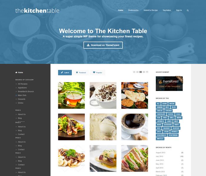 The Kitchen Table WordPress Food Theme
