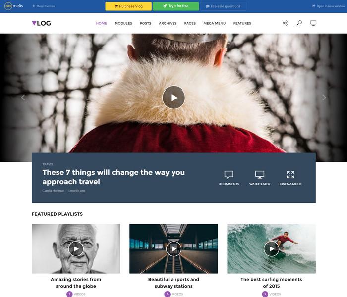 Vlog Theme for news websites