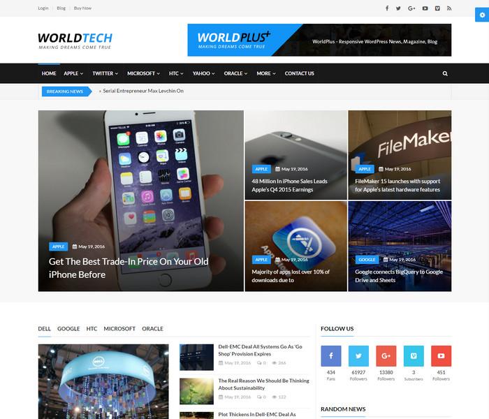 WorldPlus Technology WordPress Theme