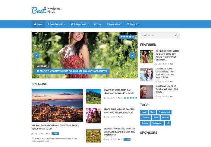simple and best WordPress magazine theme