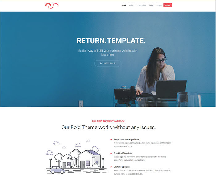 free corporate template with html5 css3