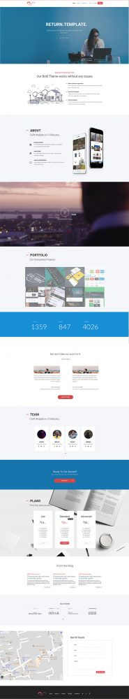 free html5 responsive business website template