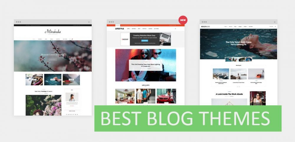 wordpress blog themes preview