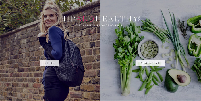 hip and healthy food blog magazine