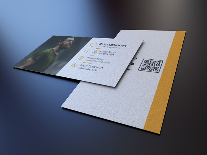 free personal business card with headshot