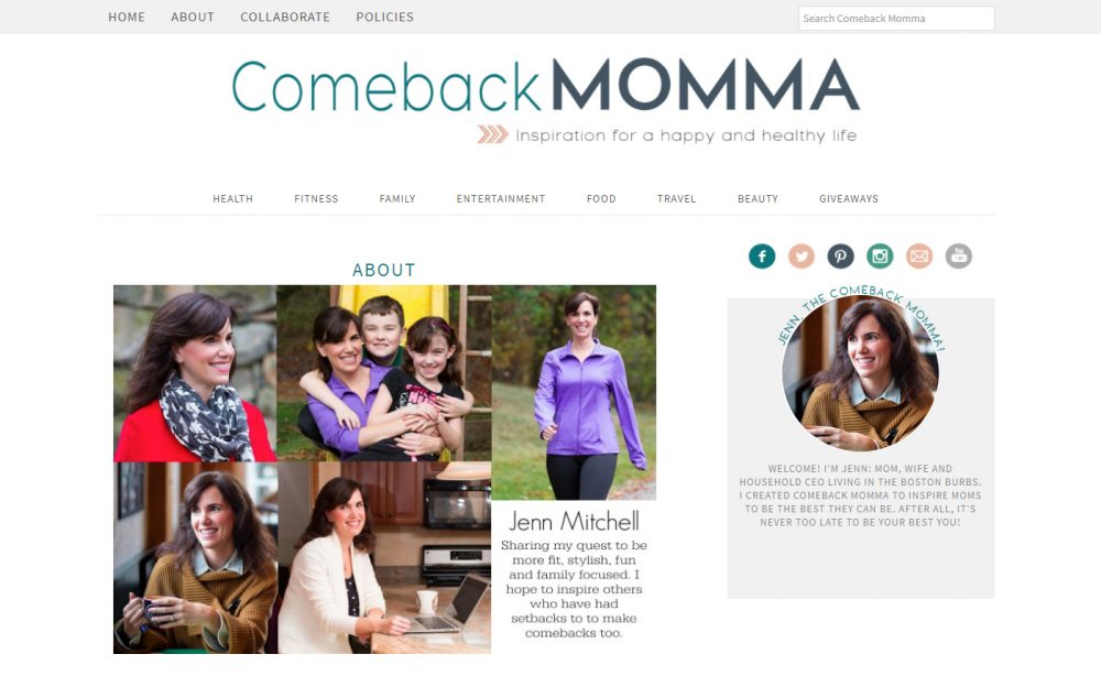 Jenn Mitchel, the founder of Comeback Momma