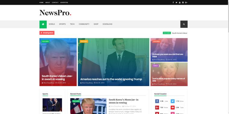 Best Free Responsive Blogger Templates 2018
