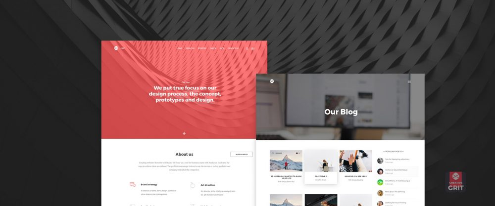 grit - free one page WordPress theme for digital agencies