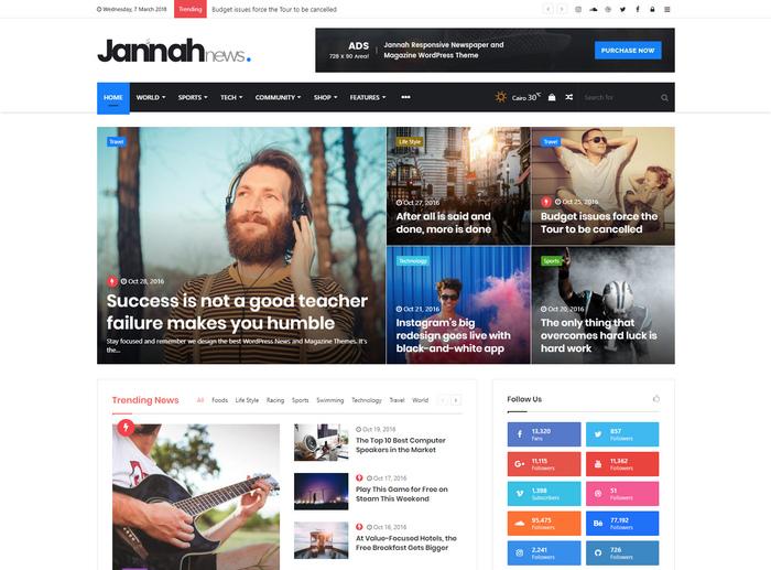 Jannah News - WordPress theme for bloggers