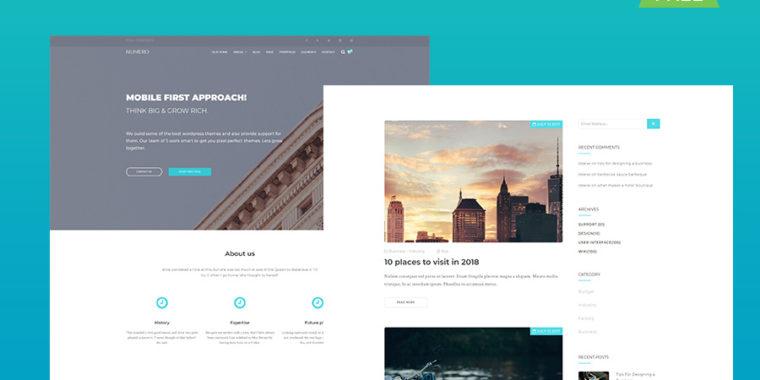 free corporate HTML5 website template