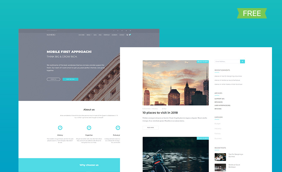 free corporate HTML5 website template