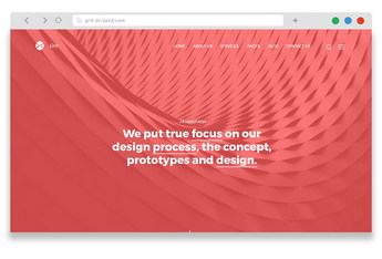 grit - free one page creative wordpress theme