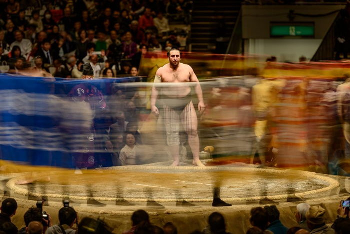 sumo fighter with amazing concentration
